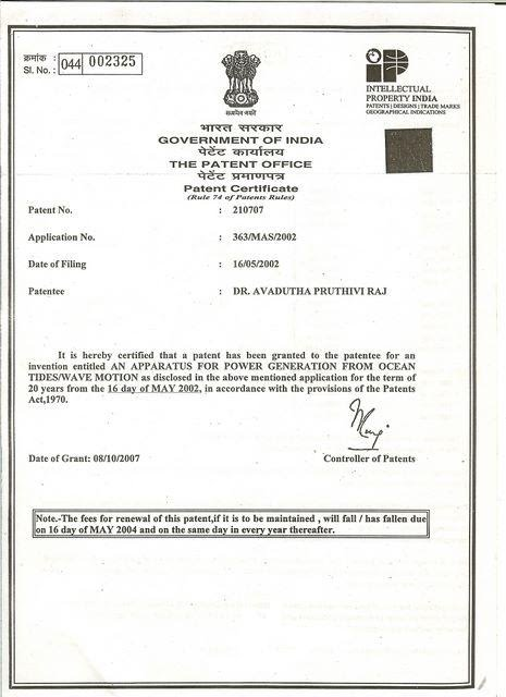 Power India Technologies Patent Document