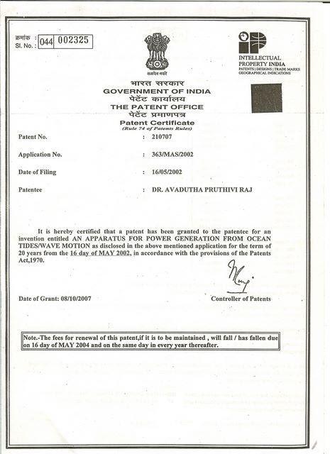 Power India Technologies Patent Document